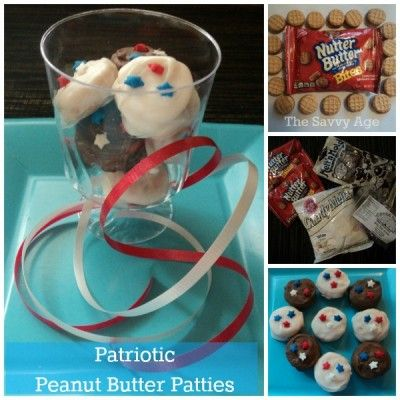 Patriotic Chocolate Peanut Butter Patties Recipe