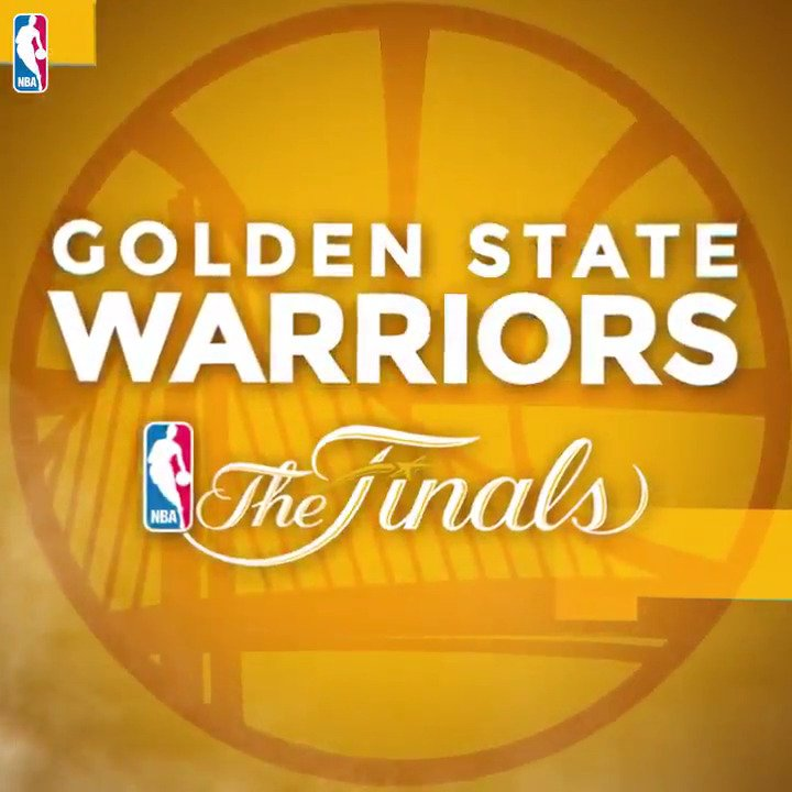 For the third consecutive season, the @Warriors​ are #NBAFinals bound!...
