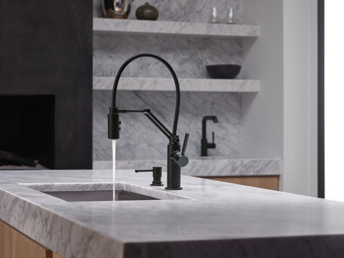 brizo brizo kitchen faucet A kitchen faucet by brizo that works hard and looks good doing it http design milk com a kitchen faucet that works hard and looks good doing it