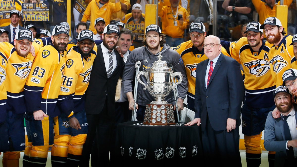 Conference champs, baby. #Preds #StanleyCup https://t.co/JDK8qpe6MH