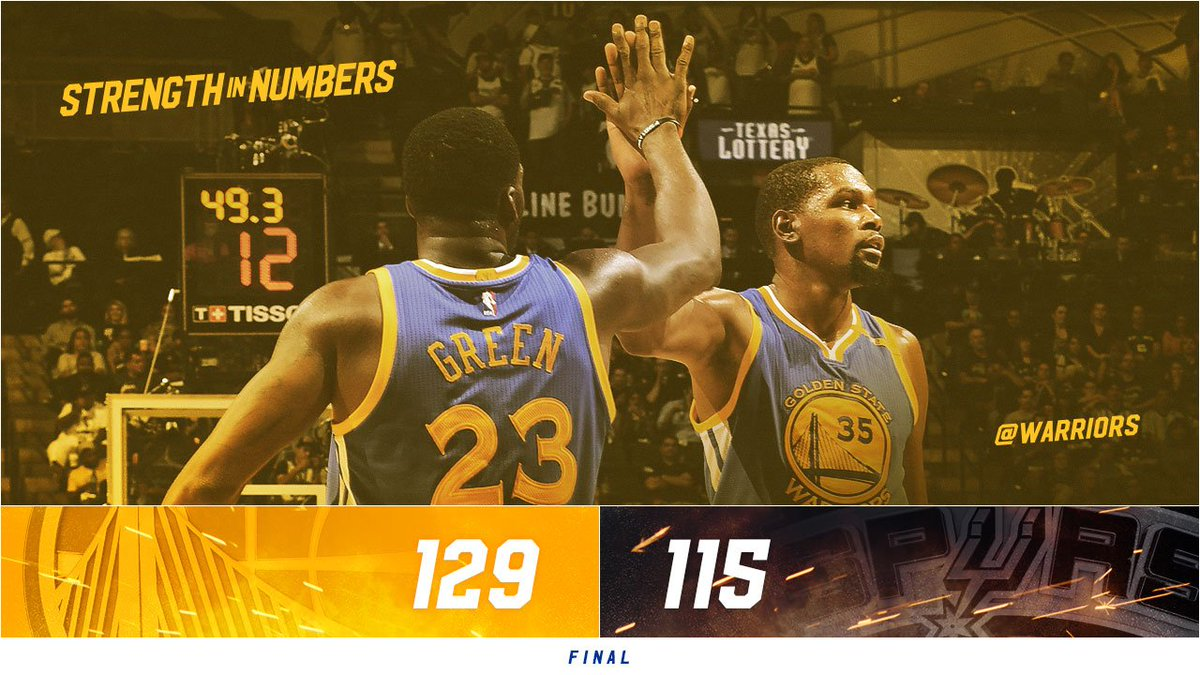 Going back to the #NBAFinals for the third straight season! #DubNation...