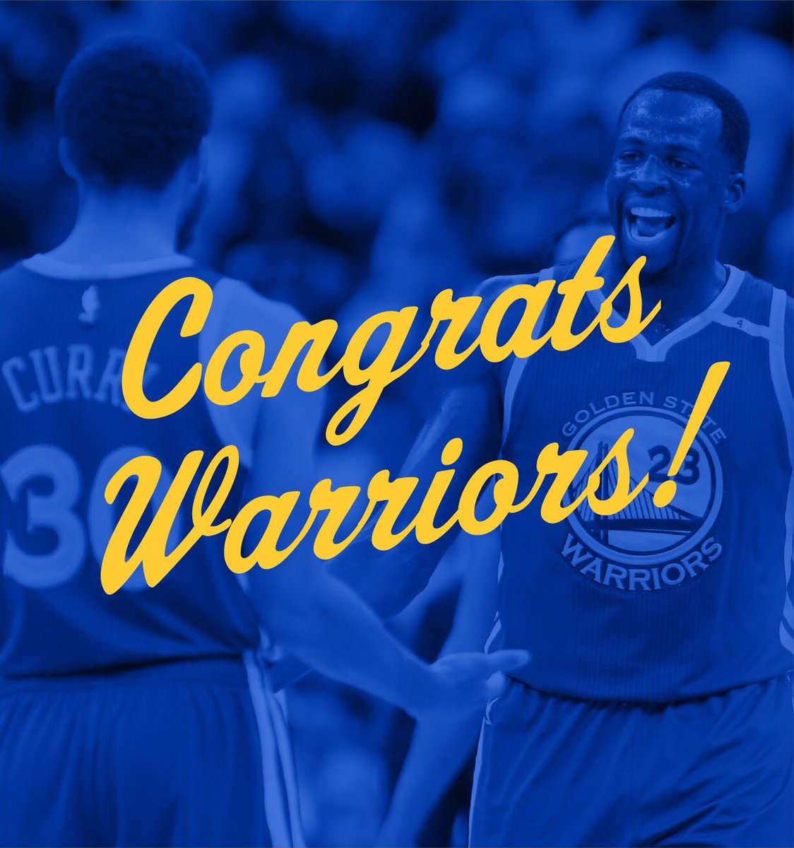 SWEEP!   Congrats @warriors on a 3rd straight trip to the #NBAFinals!...