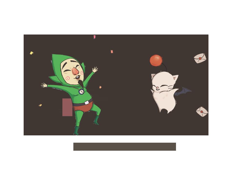 so like... what if Tingle met Moogle?? shhh it&#39;s 1am #LOZ #FF #Zelda #FinalFantasy<br>http://pic.twitter.com/XF2o8vvlIW