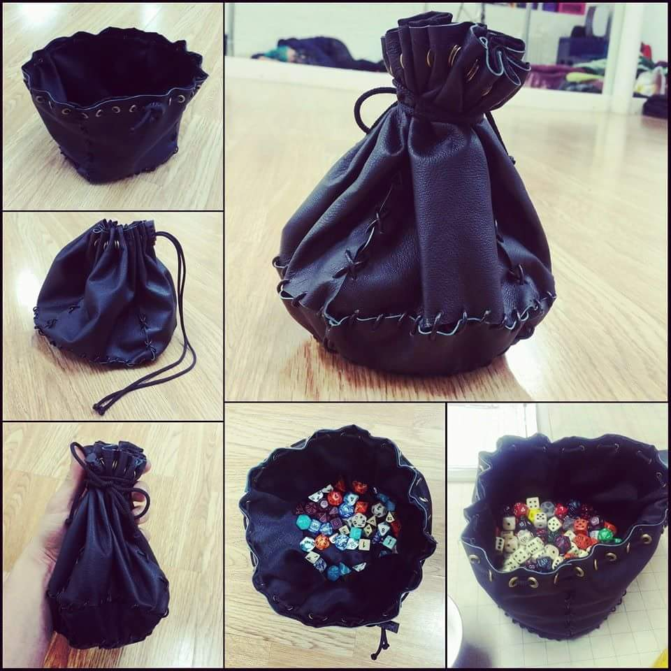 Awww this was our prototype for our Bag of holding. We still don&#39;t own enough dice to fill it, and we have about 40 sets!  #dice #boh #DnD<br>http://pic.twitter.com/EFHPYduI1Q