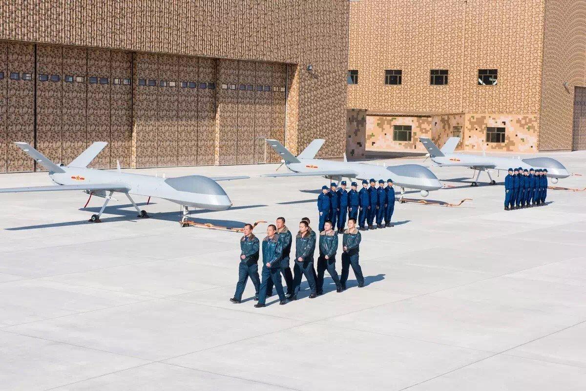 PLAAF GJ-1 UCAV troops unveiled