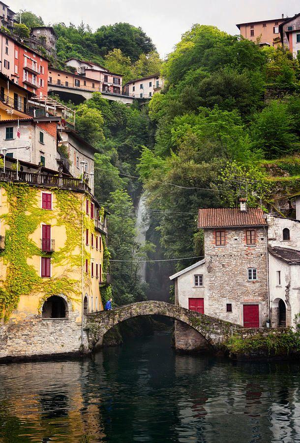 Nesso On Lake Como Italy  http:// buff.ly/2rLeMOk  &nbsp;   #lakecomo #village #bridge #waterfall #travel #tourism<br>http://pic.twitter.com/gNxv2Xdv3T