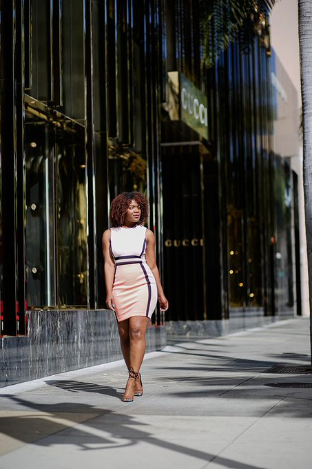 Outfit Inspiration: Color Blocked Sheath Dress
