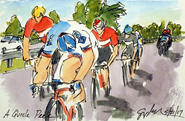 @EquipeFDJ @jeremyroy leads the early break, more #Giro100 #cycling #art @  http:// theartofcycling.blogspot.com  &nbsp;   #book @  http:// kck.st/2pd3lfT  &nbsp;   #cyclisme <br>http://pic.twitter.com/XOn5Uy1BbG