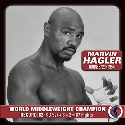 Happy Birthday to \Marvelous\ Marvin Hagler, who turns 63 today!