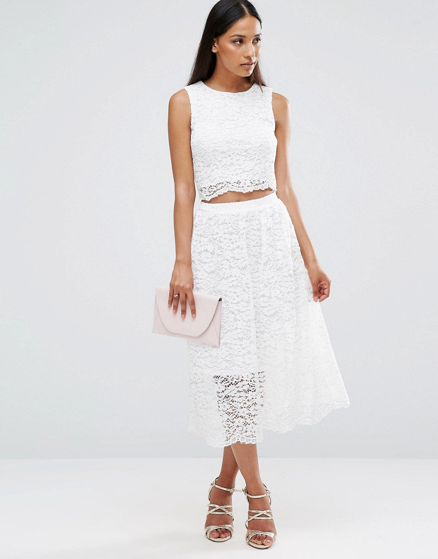 AX Paris Sleeveless Lace Midi Dress With Cut Out Middle  https://t.co/...