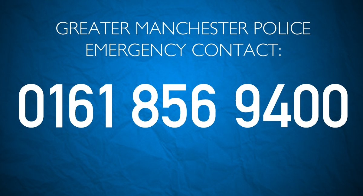Greater Manchester Police have issued an emergency contact number for those concerned about their loved ones: https://t.co/DPE5Oya7vg