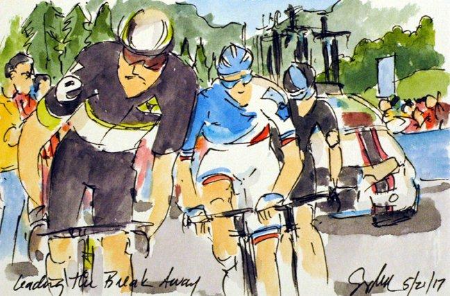 @EquipeFDJ @Rudymolard is in the front group, more #Giro100 #cyclisme #art @  http:// theartofcycling.blogspot.com  &nbsp;   &amp; my #livre @  http:// kck.st/2pd3lfT  &nbsp;  <br>http://pic.twitter.com/1EnotLgxSd