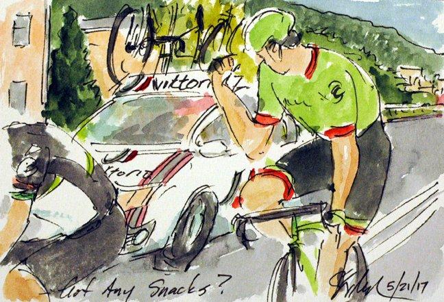 @Ride_Argyle @pierrerolland just wants a snack, more #Giro100 #cyclisme #art @  http:// theartofcycling.blogspot.com  &nbsp;   &amp; #livre @  http:// kck.st/2pd3lfT  &nbsp;  <br>http://pic.twitter.com/CEFcxUgXBu