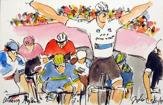@EquipeFDJ @ThibautPinot looks in &amp; takes 3rd More #Giro100 #cycling #art @  http:// theartofcycling.blogspot.com  &nbsp;   #cyclisme #livre  http:// kck.st/2pd3lfT  &nbsp;  <br>http://pic.twitter.com/b8qfAZWVCY
