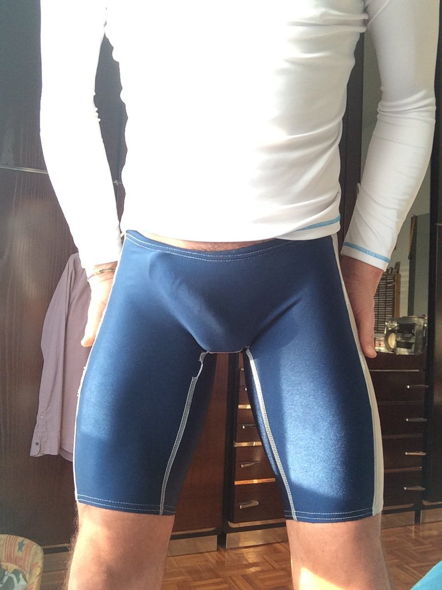 Huge cock in spandex
