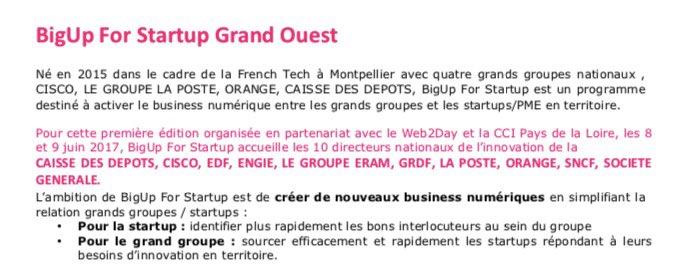 #Innovation  #PME &lt;Startup #Nantes#Rennes #Angers #LeMans #PaysDeLoire #Laval #Rennes CandidateZ au @Big4Start   http:// lnkd.in/dM2x4Rt  &nbsp;  <br>http://pic.twitter.com/4TaGSfBmTW