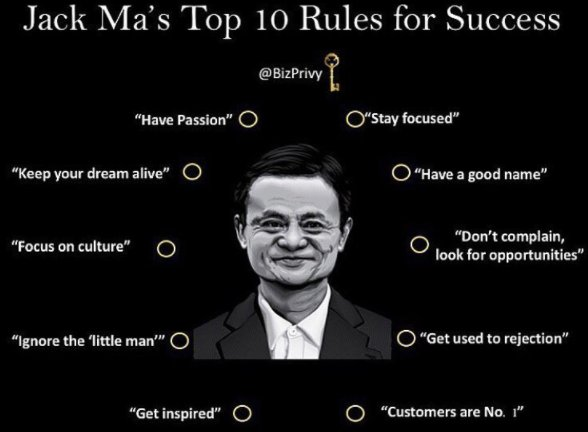 Cokarma On Twitter Jack Ma S Top 10 Rules For Success Startups