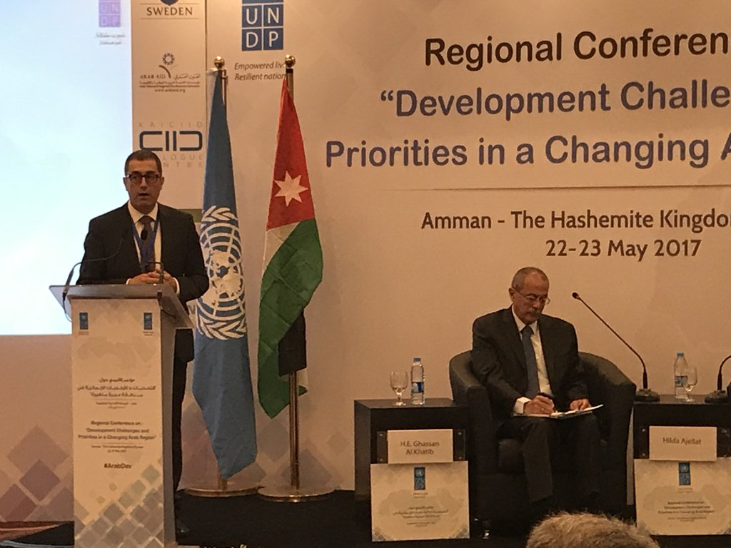 #Karam @ESCWACIU present causes of #conflict, #spillovers and need for post conflict #reform for real #reconciliation @UNDPArabic #ArabDev<br>http://pic.twitter.com/06vPR7O8DS