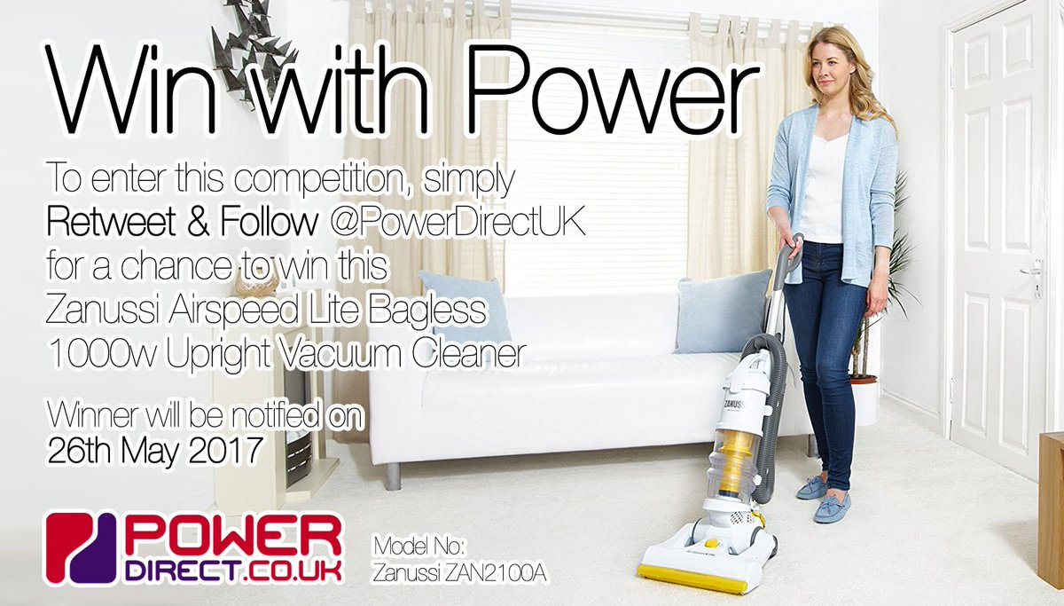 #TuesdayMotivation? Enter our #Free #Competition #Giveaway for a Chance to #Win a Zanussi Vacuum. Draw Friday. #RT &amp; #Follow @PowerDirectUK<br>http://pic.twitter.com/fyVI3hxXnD