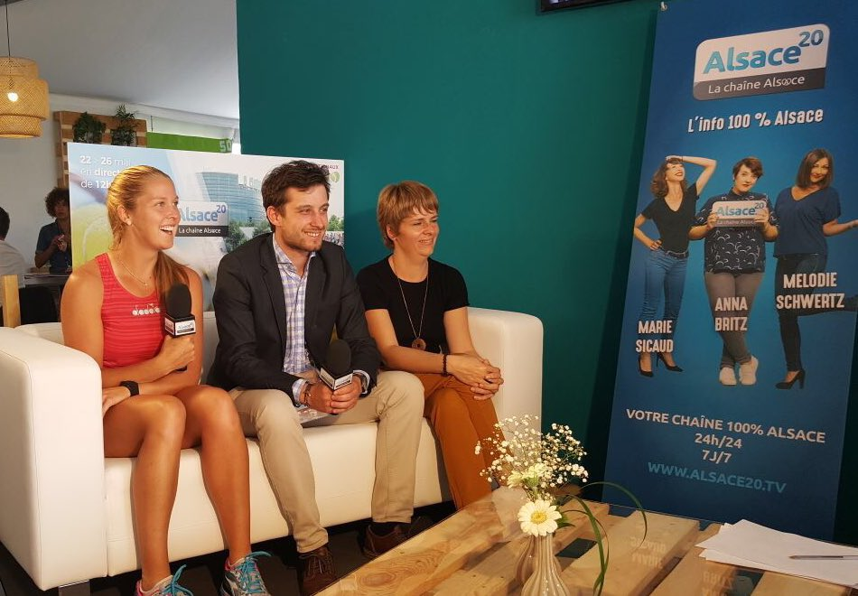 Thanks for having me on your show @alsace20! @WTA_Strasbourg #Alsace #Strasbourg <br>http://pic.twitter.com/6wqMLmbXhM