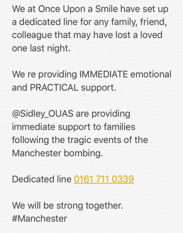 PLEASE SHARE! Be strong together Manchester
