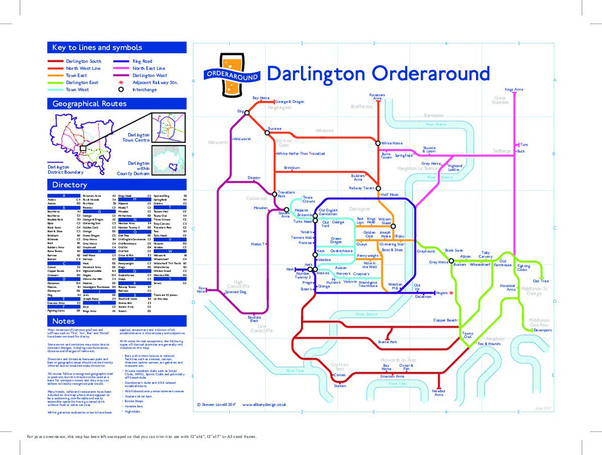 Mapped out - Darlington's pubs recorded on 'tube' style graphic https://t.co/vNn1NkqBa8 https://t.co/Q189FauuqA