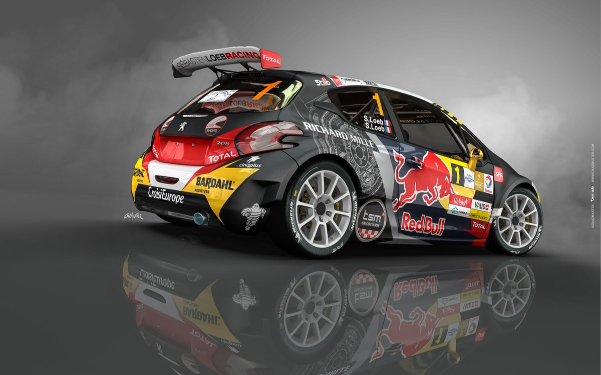 la livr e de la peugeot 208 t16 r5 de s bastien loeb au chablais. Black Bedroom Furniture Sets. Home Design Ideas