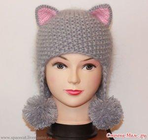 Как связать для девочки красивую шапочку спицами?    #шапкадлядевочки #вязаниеспицами #схемашапкиспицами
