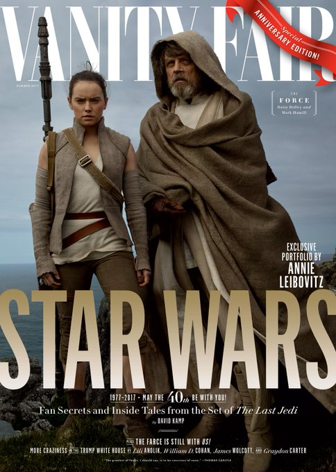 Leading up to @starwars's 40th anniversary, Vanity Fair introduces the next chapter in its saga: #TheLastJedi https://t.co/jLLif1n8L4