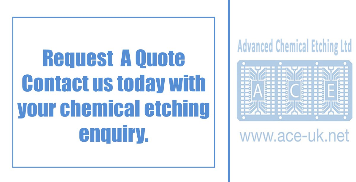 Contact @Ace_ChemEtching skilled and dedicated engineers today to discover how #chemical #etching can assist you to manufacture metal parts.<br>http://pic.twitter.com/XaYZuBUAl9