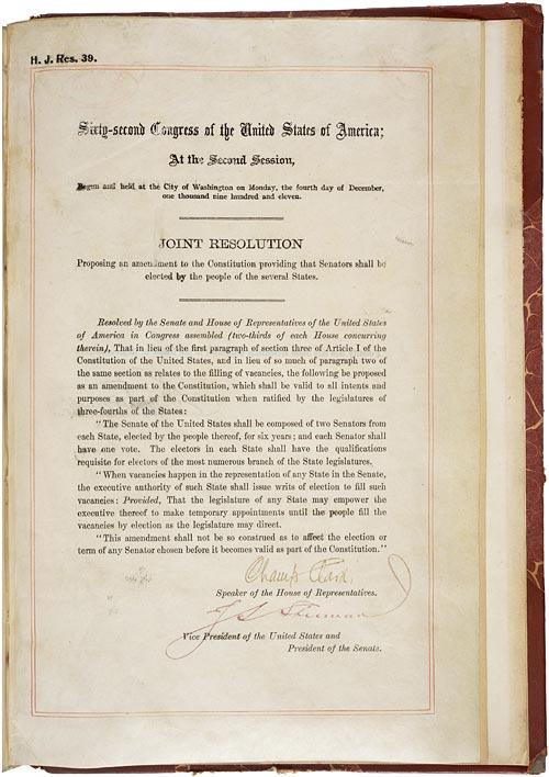 #OTD in 1911 The #Senate passed the 17th Amendment allowing for direct election of senators https://t.co/COpdso4WJM https://t.co/Mpjxz5QDiq