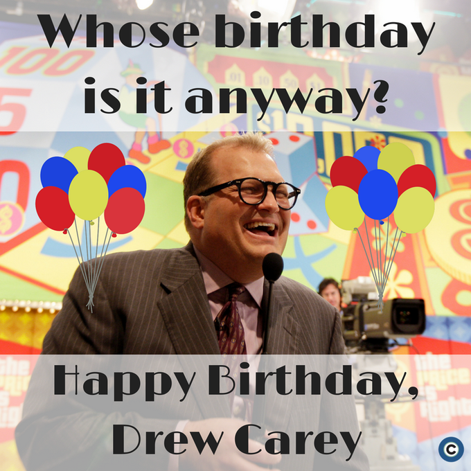 Happy birthday to Cleveland-born star Drew Carey!
