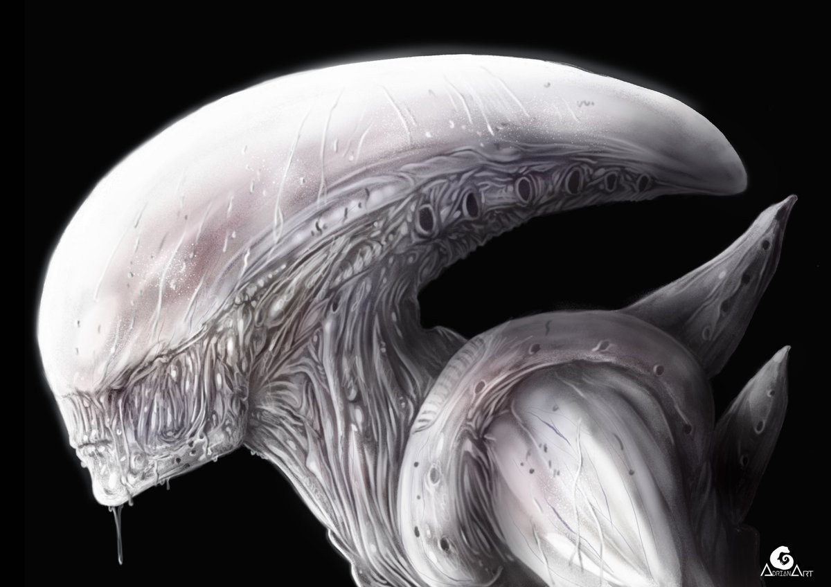 Variant of neomorph (Alien covenant) @avpgalaxy @AlienAnthology   #AlienCovenant  #alienopening  #alien #neomorph #illustration #art<br>http://pic.twitter.com/qGkejbvi5d