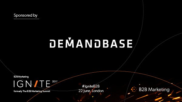 Delighted to have @Demandbase sponsoring at the #IgniteB2B https://t.co/nKpr3vkKEp https://t.co/LSv77wSgRj