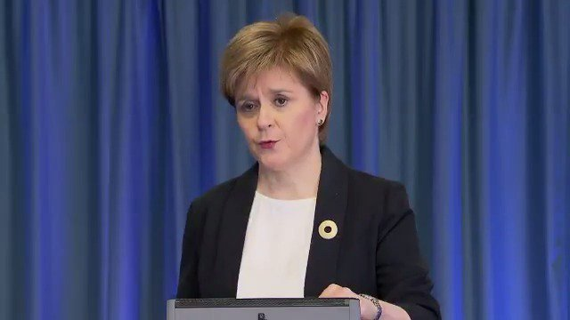 Watch @ScotGovFM @NicolaSturgeon make a statement on the incident in Manchester https://t.co/kD2inNgDrg
