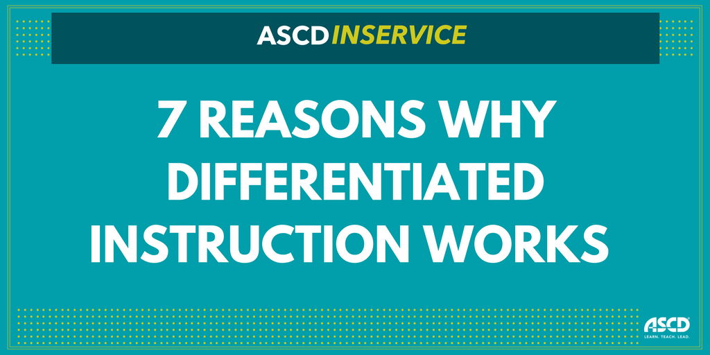 7 Reasons Why Differentiated Instruction Works w/ @cat3y https://t.co/eTFRRZkk4O https://t.co/0vYs2nC4xW