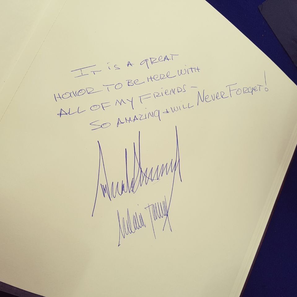 Trump, Obama notes left at Yad Vashem, Israel's memorial for the Holocaust.   This makes me sad.