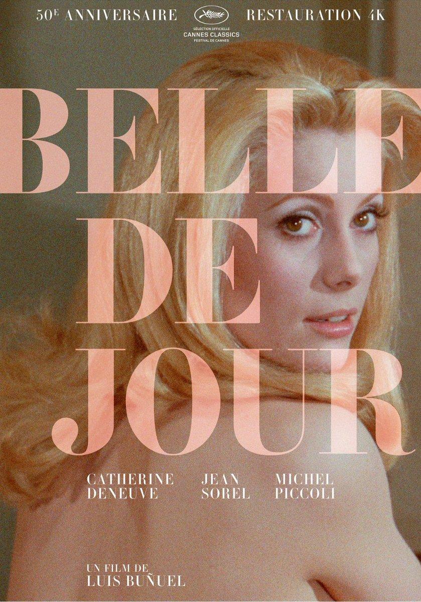 The poster for a new 50th anniversary restoration of Luis Buñuel's BELLE DE JOUR. #Cannes2017 https://t.co/2QCwnkrLao