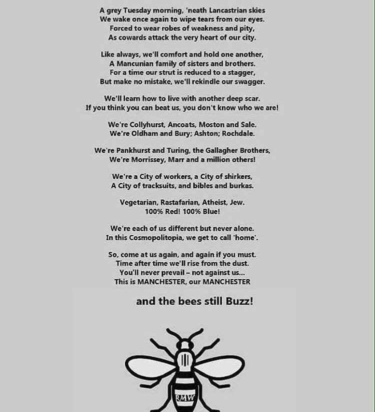 #WeAreManchester #WeStandTogether