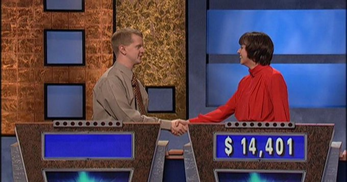 Happy 43rd birthday Ken Jennings! He had an amazing 75-show run on in 2004