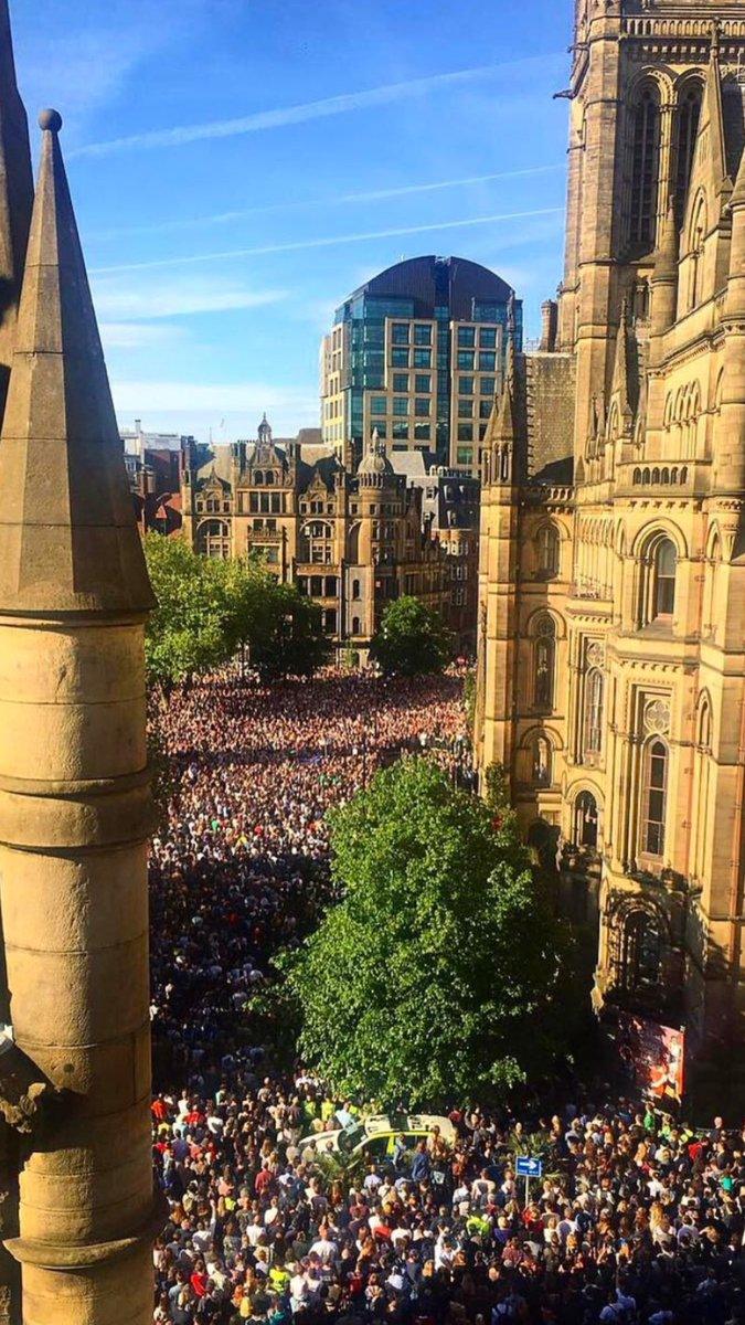 Remarkable scene. Remarkable city. #Manc...