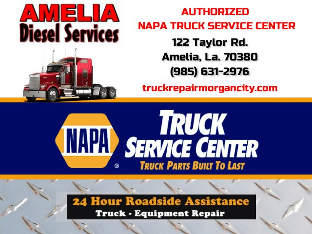 Amelia #Diesel Services122 Taylor Rd #AmeliaLA   We get your big rig moving!  http:// truckrepairmorgancity.com / &nbsp;      #24HourRoadside<br>http://pic.twitter.com/pYUIZ1TMPv
