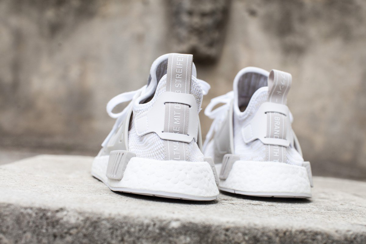 Adidas NMD XR1 Duck Camo in White On Feet and Close Look