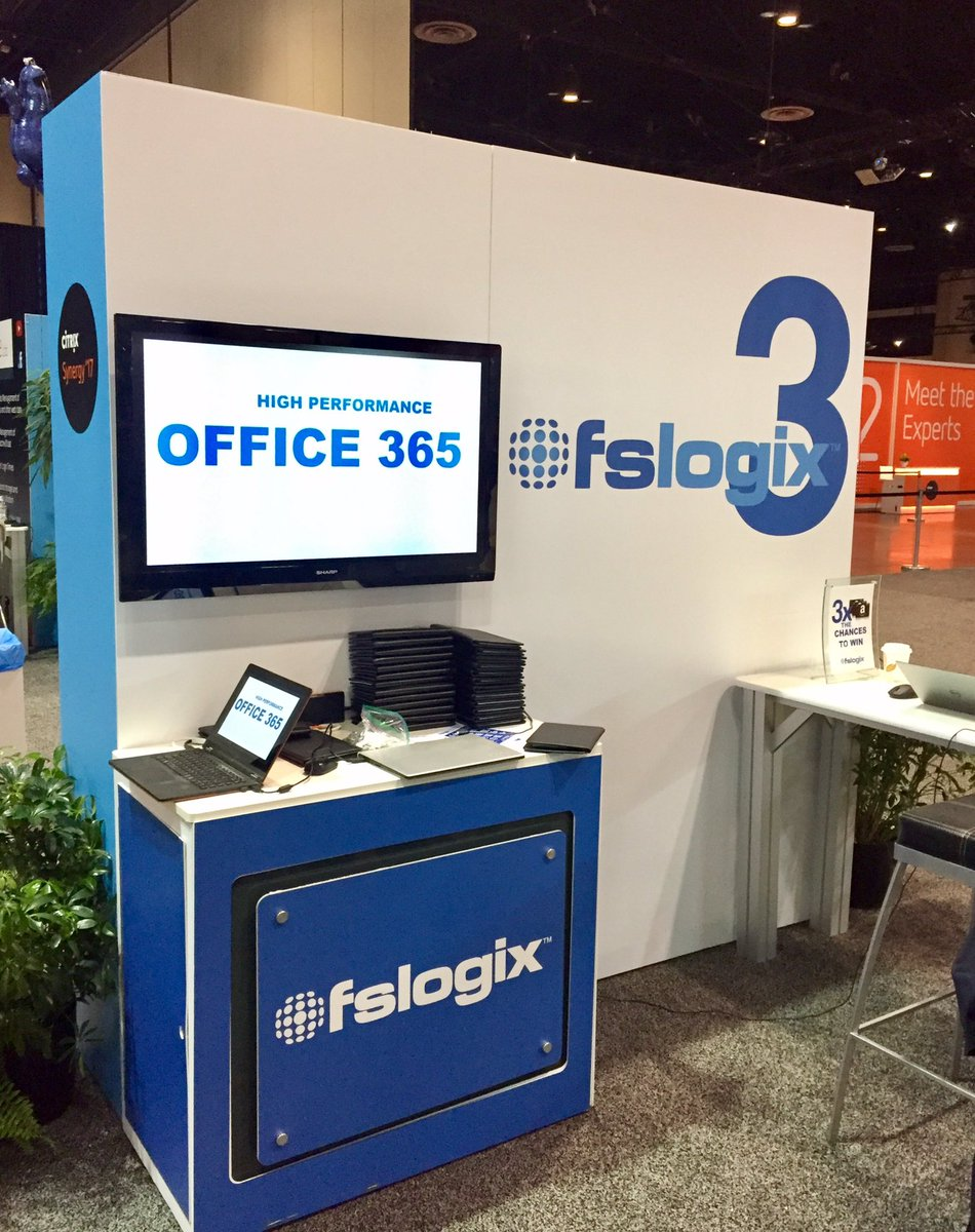 Ready to roll! Come see us at Booth #514 @ #CitrixSynergy! Award-winning #Office365 &amp; #Profile containers. @fslogix Solution Expo open NOW.<br>http://pic.twitter.com/s8GdaNRNac