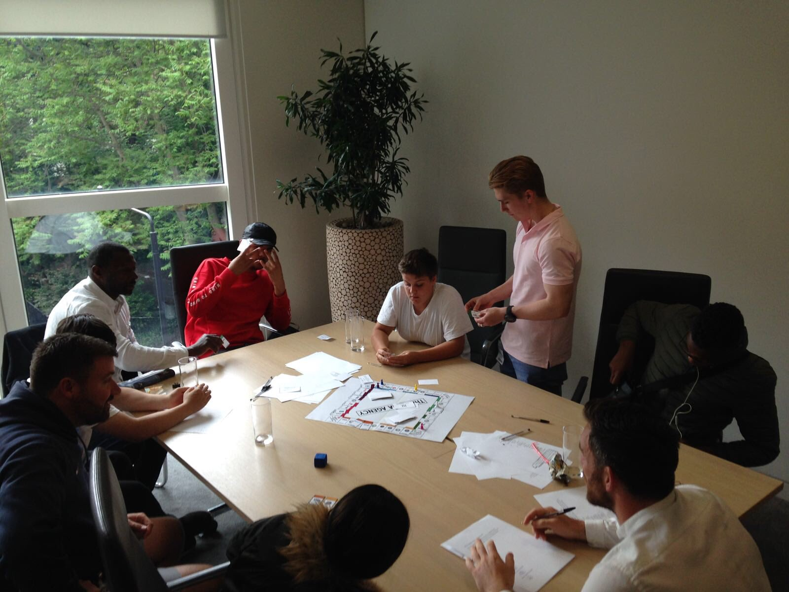 Some of our #RugbyWorks young people playing brand monopoly @GroupMWorldwide today https://t.co/4yEAWfbAZn