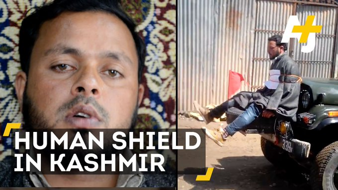 This Kashmiri man was used a human shield by the Indian army. Now he's huanted by the trauma.