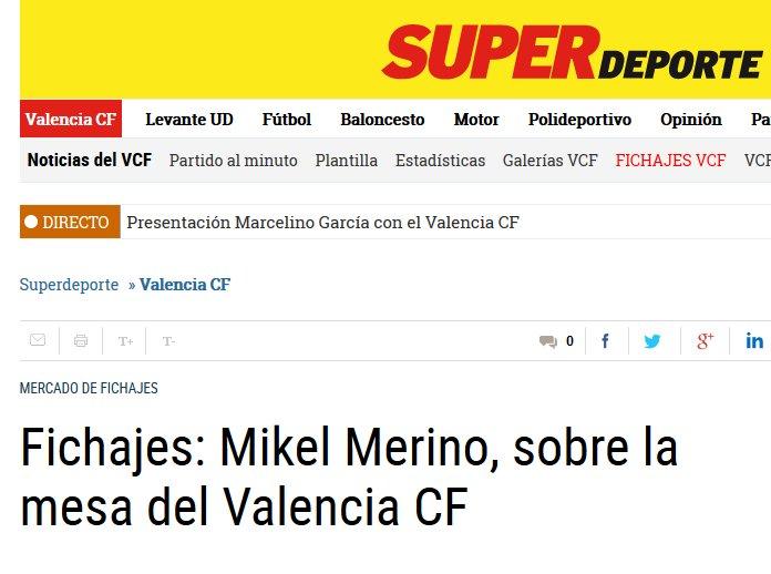 #Valencia pense à #Mikel Merino (20) et pourrait concurrencer l'Athletic #Bilbao pour le milieu espagnol du #Borussia Dortmund. pic.twitter.com/ff7B3gEL8m