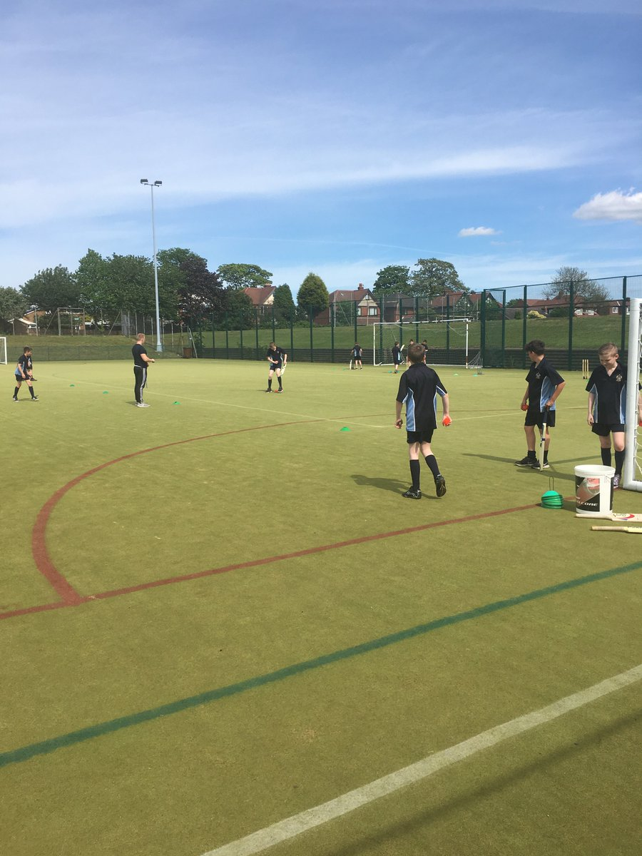 Year Sevens making the most of the sun with an after school cricket session!