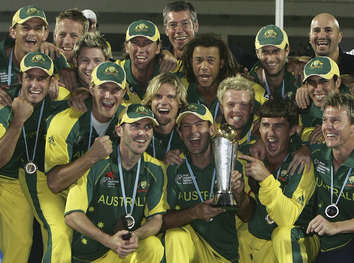 test Twitter Media - 8 days until #CT17!   Australia beat West Indies by 8 wickets in the 2006 Final to lift the ICC Champions Trophy for the first time! 🏆🇦🇺 https://t.co/WhM50ROj2b