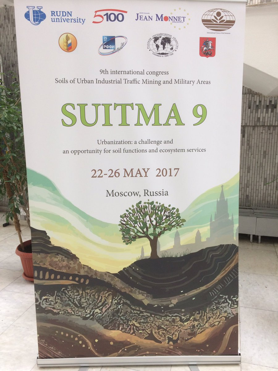 Urban soils under study, 9th #SUITMA conference #Moscow #IUSS #RUDN #UL #Inra<br>http://pic.twitter.com/EBmvdqMtS8